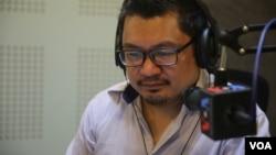 Ou Virak, president of Future Forum, a think tank group in Cambodia. (Leng Len/VOA Khmer)