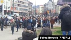 Sarajevo - Protest on International Anti-Corruption Day