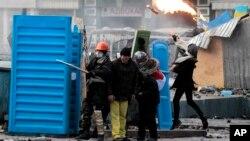 Киев. Украина. 20 января 2014 г.