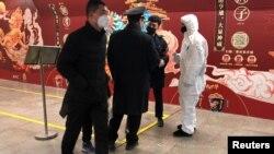 Stanica metroa u Pekingu, 26. januar 2020. Foto: REUTERS/Carlos Garcia Rawlins