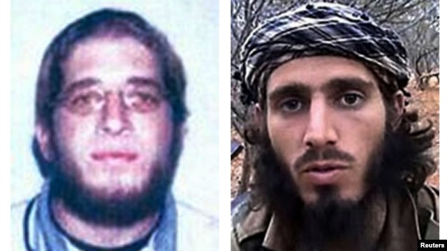U.S. citizens Omar Shafik Hammami (R) and Jehad Serwan Mostafa are seen in undated FBI handout photos.