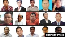 Profiles of Cambodia's political prisoners by Human Rights Watch. (Courtesy photo of HRW)