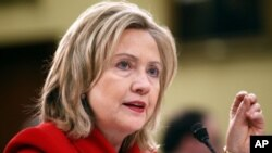 U.S. Secretary of State Hillary Clinton (file photo)