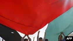 Ралли палестинцев в поддержку признания Палестины в ООН. Западный берег. 22 сентября 2011.