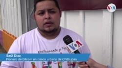 Saúl Díaz, pionero de bitcoin en casco urbano en Chiltiupán, El Salvador