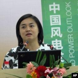 """""""绿色和平""""气候与能源项目经理杨爱伦"""