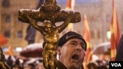 Protests Christian Brotherhood Macedonia