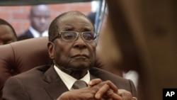津巴布韋總統穆加貝。(資料照片)