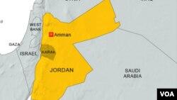 Bản đồ khu vực Karak, Jordan.