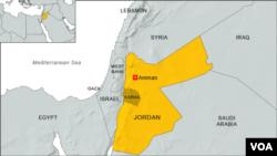 約旦位置圖