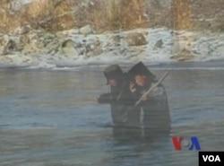 北韓人試圖越過圖們江