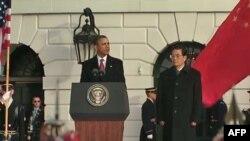 Prezident Barak Obama Çin prezidenti Hu Tsintaonu Ağ Evdə qəbul edib