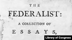 The Federalist Papers cover page