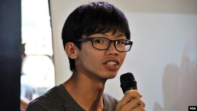 资料照:前学生动源召集人钟翰林(美国之音汤惠芸拍摄)