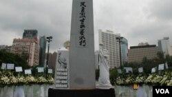 Taman Victoria di Hong Kong sering dipakai untuk melakukan demonstrasi, termasuk saat perayaan Imlek (foto: dok).