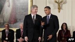 Стивен Сэссон и Барак Обама в Белом доме 17 ноября 2010г.
