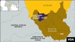 Officials say Northern Bahr el Ghazal and neighboring Western Bahr el Ghazal came under aerial attack by suspected Sudanese forces on Wednesday, April 8, 2015.