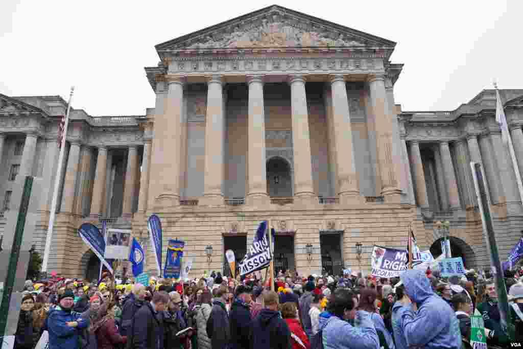 La ciudad de Washington ha sido el escenario de esta multitudinaria marcha desde 1973.