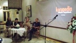 Peluncuran situs Korupedia di Jakarta (13/6).