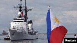 Một con tàu của hải quân Philippines.