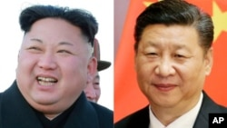 From left, North Korea leader Kim Jong Un and Chinese President Xi Jinping.