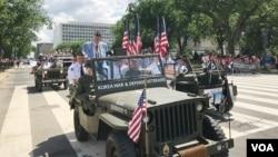 지난달 29일 미국의 현충일인 메모리얼 데이를 맞아 열린 워싱턴DC 퍼레이드에 한국전 참전용사들이 참가했다.
