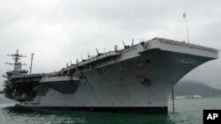 正在香港進行訪問的美國卡爾•文森號航空母艦