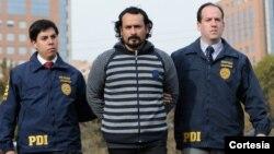 Félix Marcelo Labarca Baeza fue capturado el martes en la noche por la Policía de Investigaciones de Chile (PDI). [Foto: Cortesía, PDI].