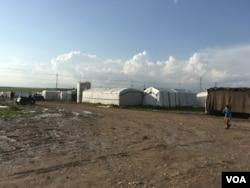 A refugee camp in Kurdistan, April 2016. (S. Behn / VOA)