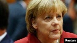 Angela Merkel au sommet de l'Union européenne à Bruxelles