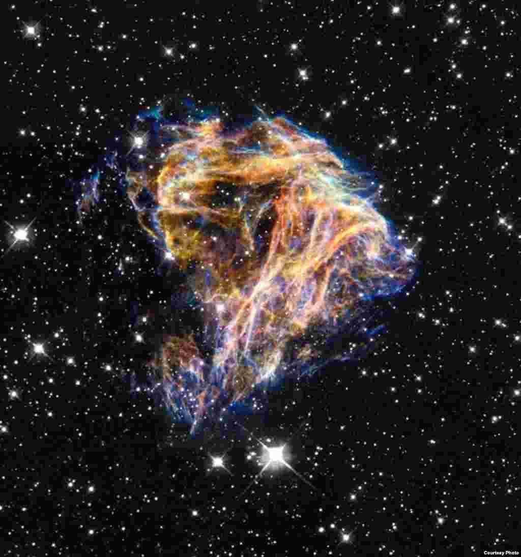 Ostaci eksplodirane zvezde. (NASA)