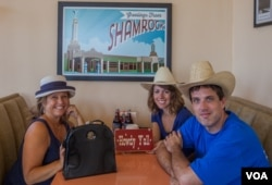 The VOA Route 66 crew at U Drop Inn in Shamrock,Texas