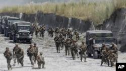 美國和菲律賓於去年10月進行軍事演習。