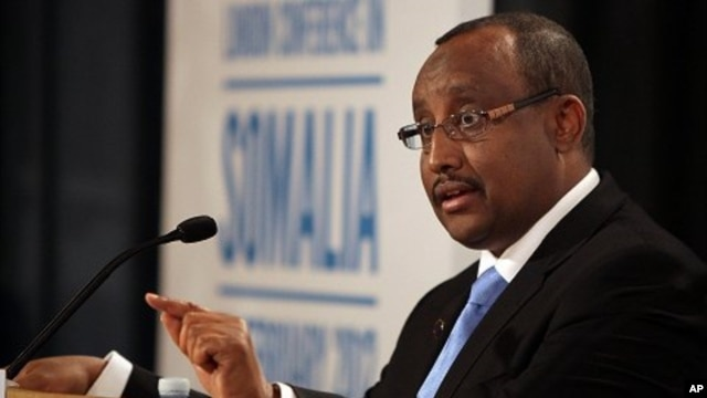 Prime Minister Abdiweli Mohamed Ali of the Transitional Federal Government of Somalia (file)
