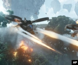 """The inhabitants of director James Cameron's fictional planet fight for survival against humans in """"Avatar."""""""