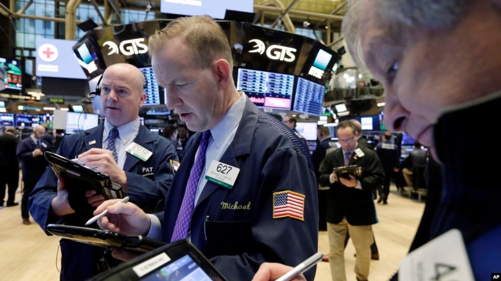 Sàn chứng khoán New York Stock Exchange ngày 7/2/2018.