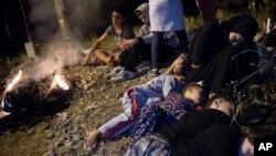 Sirijske izbjeglice na sjeveru Grčke Aug. 18, 2015.
