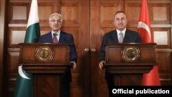 پاکستان اور ترکی کے وزرائے خارجہ کی انقرہ میں مشترکہ پریس کانفرنس