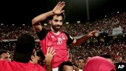 Le joueur égyptien Mohamed Salah à Alexandrie, Egypte, le 8 octobre 2017.