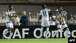 Les joueurs du TP Mazembe lors de la finale de la CAF contre l'Algérie, le 29 octobre 2016.