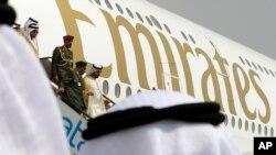 "Salah satu pesawat milik maskapai ""Emirates"" di Dubai (Foto: dok)."