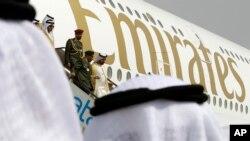 Pesawat Airbus A380 maskapai Emirates (foto: ilustrasi).