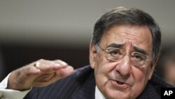 Defense Secretary nominee, CIA Director Leon Panetta, testifies on Capitol Hill in Washington, before the Senate Armed Service Committee hearing on his nomination, June 9, 2011
