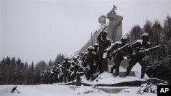 북한 삼지연에 내린 눈. (자료사진)