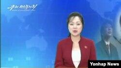 올해 9월 남한 소식을 보도하는 북한 선전용 매체 `우리민족끼리 TV'. (자료사진)