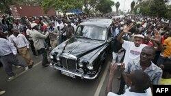 Ðám tang bà Wangari Maathai ở, Nairobi, Kenya, ngày 8 tháng 10, 2011