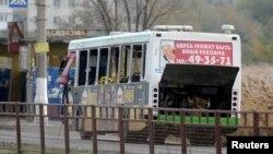 10月21日在伏尔加格勒被炸的汽车。