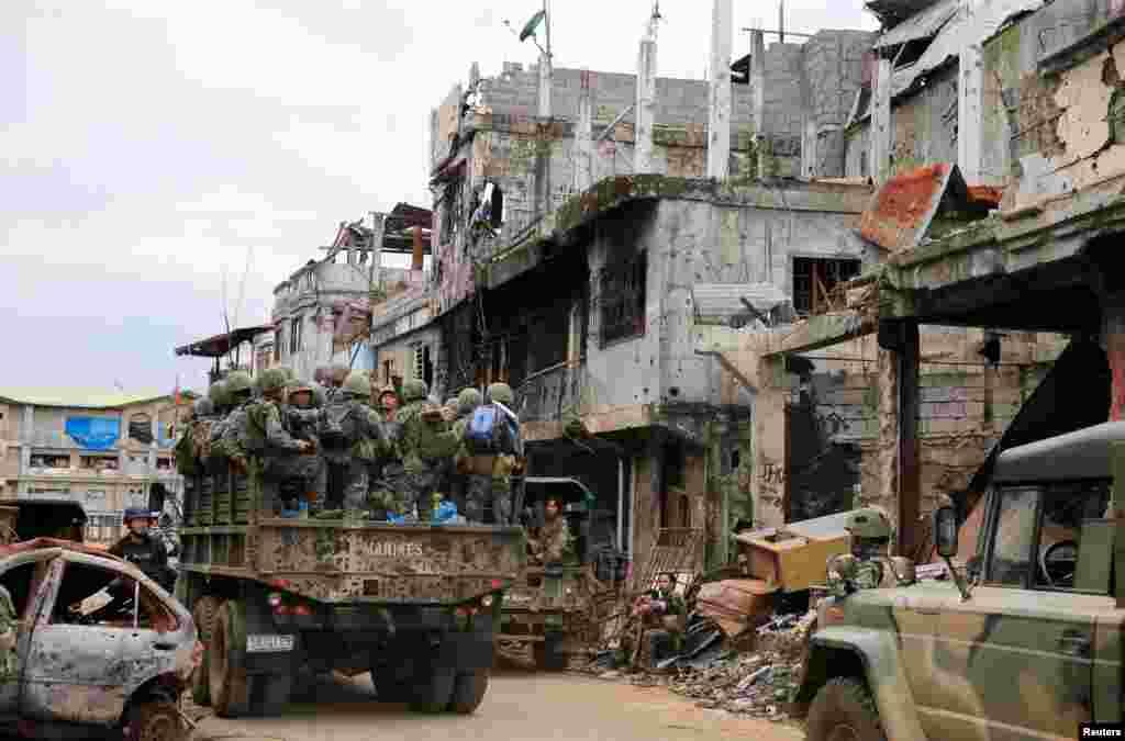 Filippin - İslam Dövləti yaraqlılarına qarşı əməliyyatların keçirildiyi Marandi şəhəri