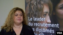 Mozaik RH's deputy director Estelle Barthelemy says companies need to see diversity as an asset. (L. Bryant/VOA)