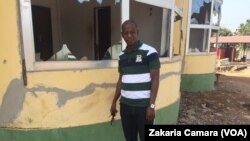 "Amadou Laouratou, du projet ""osez innover"", à Boké, le 14 décembre 2017. (VOA/Zakaria Camara)"